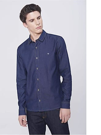 Damyller Camisa Jeans Masculina Tam: PP/Cor: BLUE