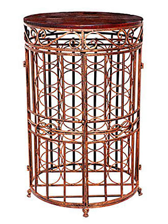 Old Dutch International 614BC Russian River Wine Bottle Rack, 20.5 x 33.5, Antique Copper and Rosewood