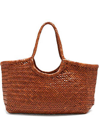 Dragon Diffusion Nantucket Woven Leather Basket Bag - Womens - Tan