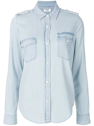Frame Denim Camisa jeans Military - Azul
