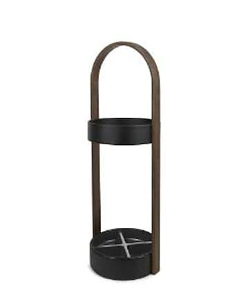 Umbra Black and Walnut Hub Umbrella Stand
