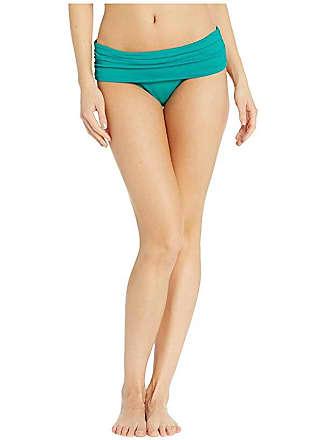 d76daf0f4b Ralph Lauren Beach Club Solids Wide Shirred Banded Hipster Bottom (Jade)  Womens Swimwear