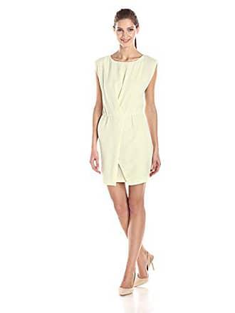 501341ce694d Halston Heritage Womens Crepe Cap Sleeve Dress with Wrap Skirt, Pistachio,  Medium