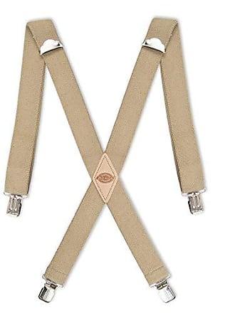 Dickies Mens 1-1/2 Solid Straight Clip Suspender,Beige