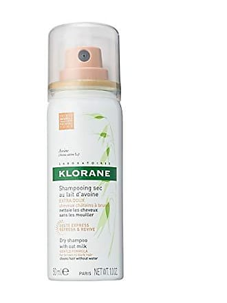 Klorane Dry Shampoo with Oat Milk, Natual Tint for Brunettes, All Hair Types, Paraben & Sulfate-Free, Travel Size 1 oz