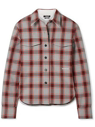 CALVIN KLEIN 205W39NYC Checked Twill Shirt - Red