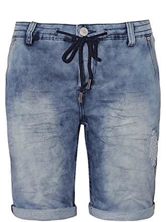 1bd65662aa2019 Urban Surface Damen Sweat Bermuda-Shorts in Jeans Optik | Kurze Hose mit  Aufschlag und