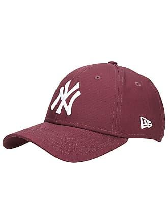 311d1a5227920 New Era League Essential 9Forty Yankees Cap maroon / optic white