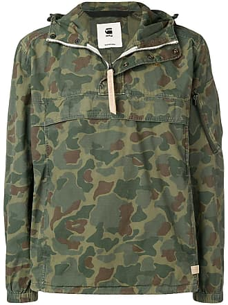 307bf9fbe3d G-Star Raw Research camouflage print hooded jacket - Green