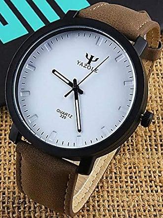Yazole Relógio Esporte Chic Yazole D320 Pulseira de Couro (1)