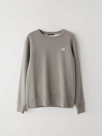 Acne Studios Fairview Face Light Grey Melange Regular fit sweatshirt