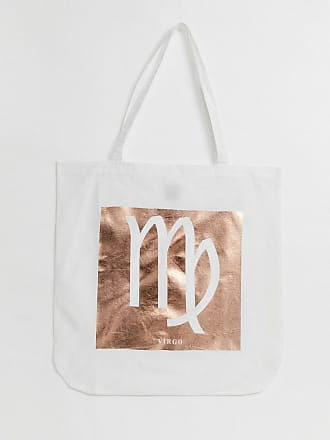 cae9ec521 Asos large cotton shopper in personalised star sign print - Beige