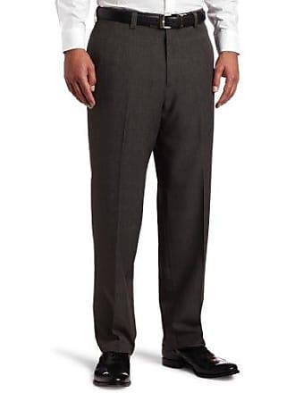 Haggar Mens Repreve Plaid Plain Front Dress Pant,Gray,36 / 32