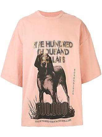 Yoshiokubo oversized greyhound T-shirt - Pink