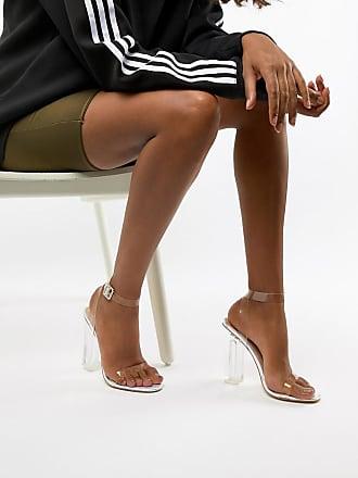 aff07809a45 Public Desire Alia iridescent clear heeled sandals