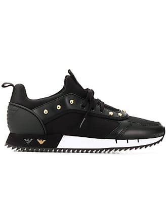 Emporio Armani studded sneakers - Black