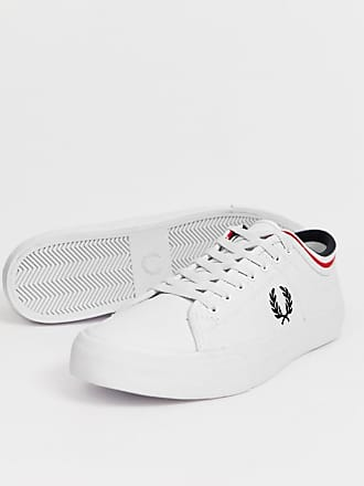 cb094a9924 Fred Perry Kendrick tipped cuff leather sneakers in white - White