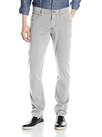 Hudson Mens Blake Slim Straight Leg + Double Cuff Lightweight Twill Pant, Broken Ledge, 33