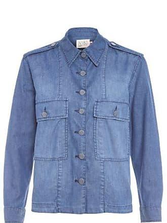 N.Y.B.D. Camisa Jeans Escura Quadrada N.Y.B.D. - Azul