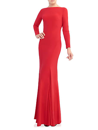Mac Duggal Boat-Neck Long-Sleeve Jersey Gown