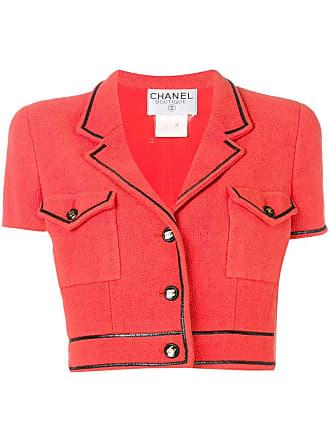 Chanel short sleeve bolero jacket - Red