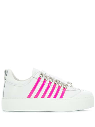 Dsquared2 striped sneakers - White