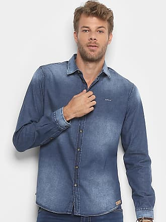 5a6812dc6a7a8 Colcci Camisa Jeans Slim Colcci Manga Longa Masculina - Masculino
