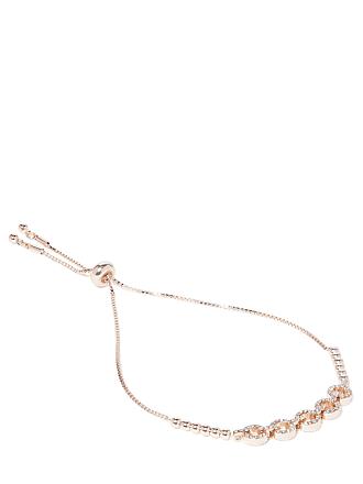 Forever New Monique Diamante Link Bracelet - Rose Gold & Crystal - 00