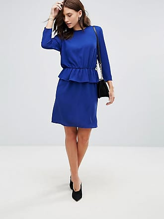 Y.A.S Civa Peplum Waist Pencil Dress - Blue