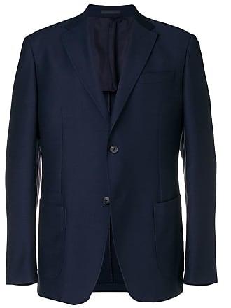 Ermenegildo Zegna plain single breasted blazer - Blue
