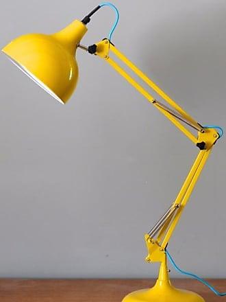 The Forest & Co. Clementine & Blue Flex Angled Desk Lamp - orange & Blue Flex - Yellow/Blue