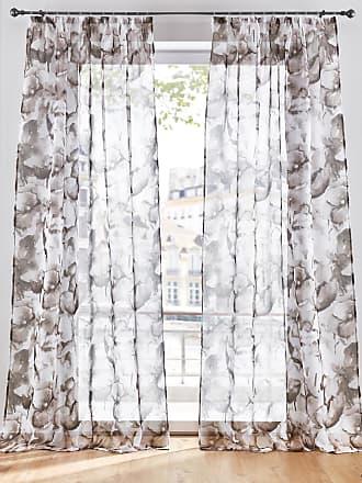 Bonprix Transparente Gardine mit floralem Druck (1er Pack) braun, bonprix