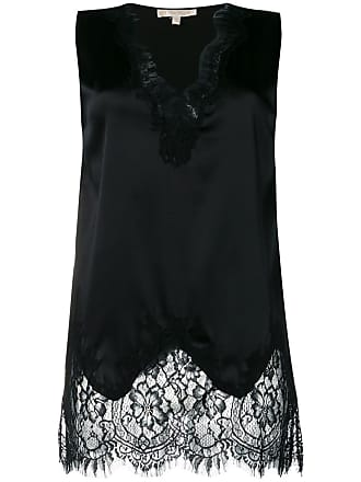 Gold Hawk floral lace inserts blouse - Preto