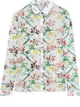 db9b4c3f635d5f Erdem Erdem Woman Cecilia Printed Cotton-gauze Shirt Off-white Size 10
