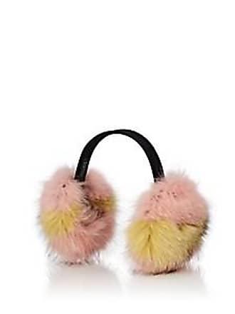 Barneys New York Womens Fox Fur Earmuffs - Pink