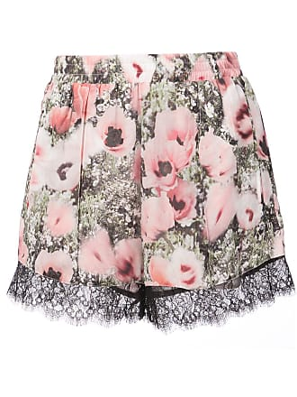 Fleur du Mal Margo floral print lace shorts - Pink