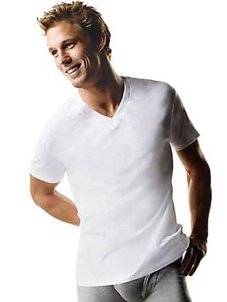 Hanes ComfortSoft TAGLESS Mens Big & Tall V-Neck Undershirt 3-Pack White XLT