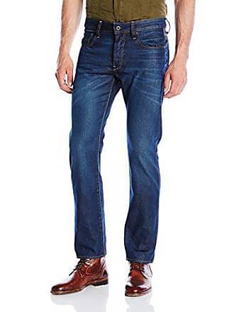 G-Star Mens 3301 Hydrite Denim Straight Leg Jean, Dark Aged, 30x30
