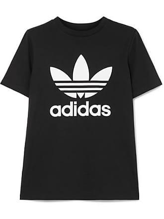 f1af0f0233427 adidas Originals T-shirt En Jersey De Coton Stretch Trefoil - Noir