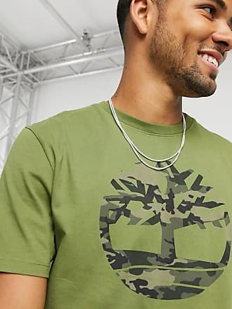 Timberland Camo Tree print t-shirt in dark green