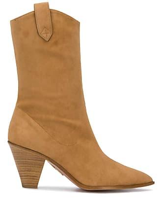 Aquazzura wooden heel boots - Neutro