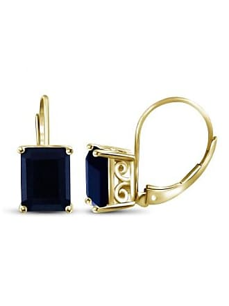 JewelersClub JewelersClub 3-3/4 Carat T.G.W. Sapphire 14kt Gold over Silver Stud Earrings