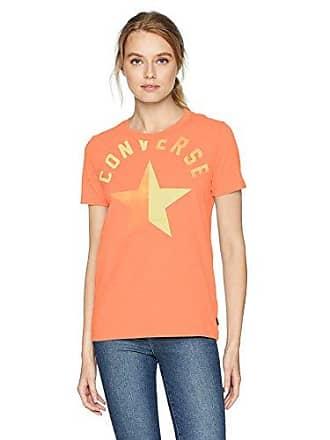 9b94f3f6 Converse Womens Split Star Short Sleeve Crew T-Shirt, hot Pink, L