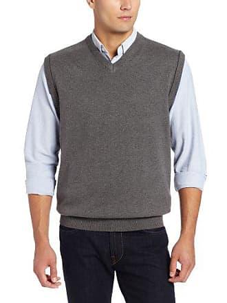 Cutter & Buck Mens Broadview Sweater Vest, Charcoal Heather, Medium