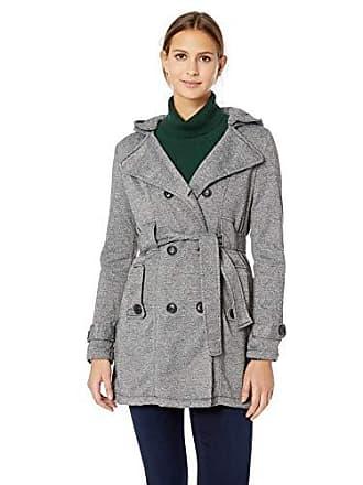Yoki Womens Double Breast Long Fleece Jacket, Grey Melange Large