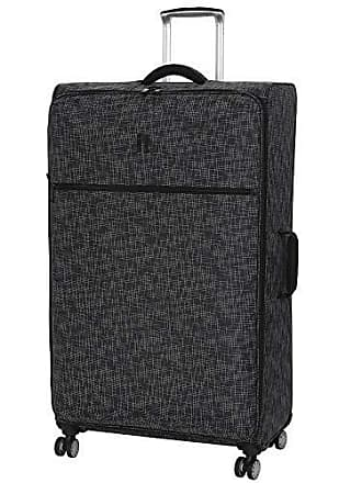 IT Luggage 34.4 Stitched Squares Lightweight Case, Black