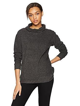 BB Dakota Womens Ritter Soft Brushed Knit Turtleneck Sweater, Charcoal Grey, Small