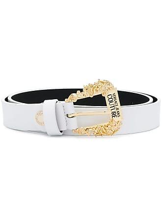 Versace Jeans Couture Cinto com gravação na fivela - Branco