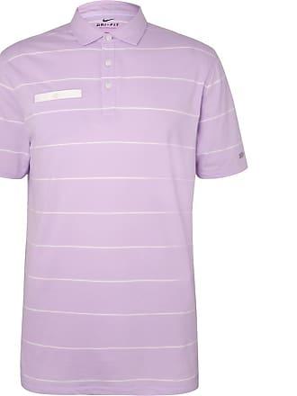 Nike Player Striped Dri-fit Golf Polo Shirt - Lilac