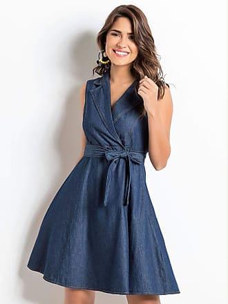 Quintess Vestido Quintess Jeans Transpassado Azul escuro (GG)